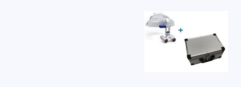 Caschetto Eyemag Pro S a 1.750 € ed in più in omaggio la valigia in alluminio del valore di 180 €